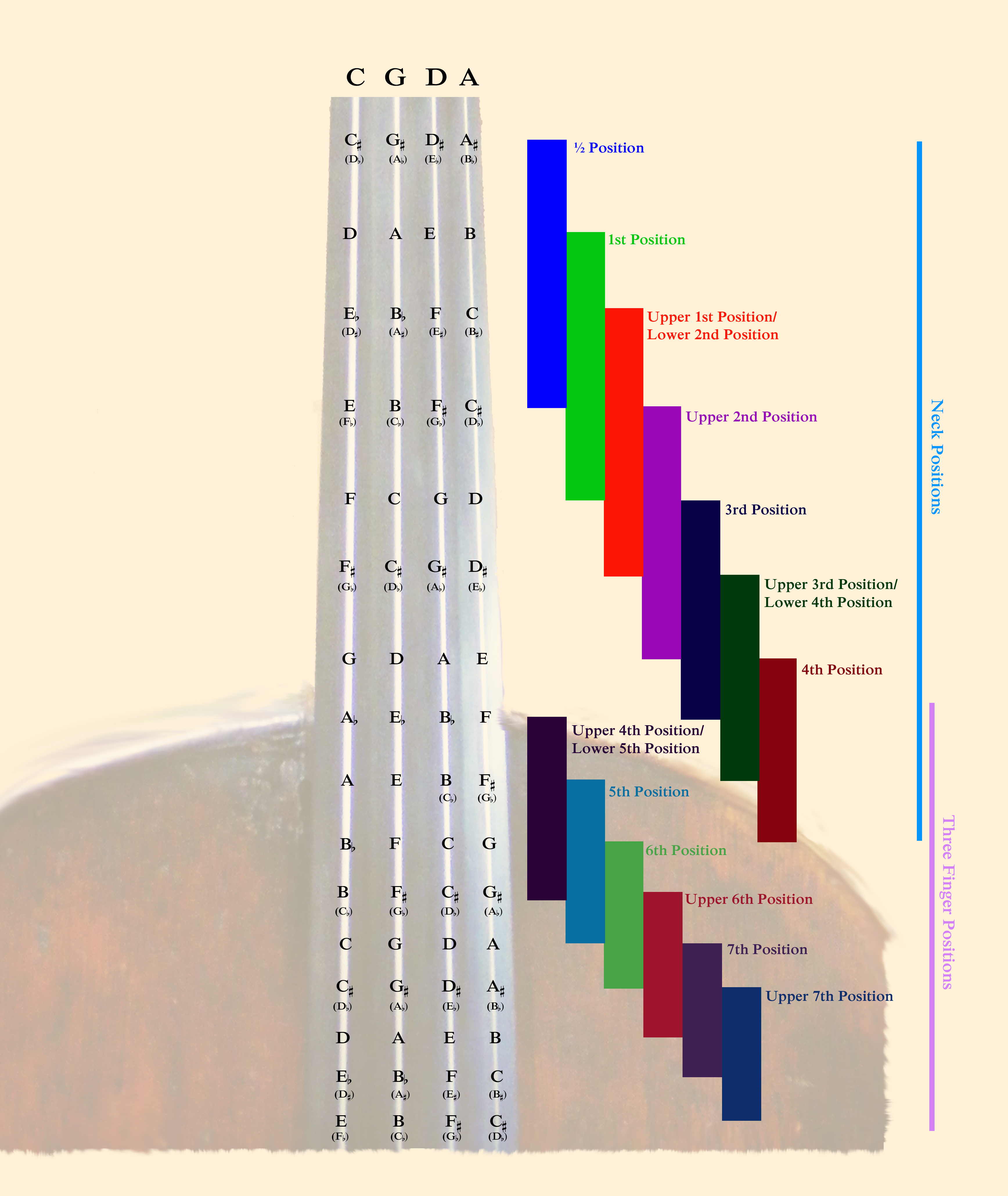 Cello Fingerboard Map 2020